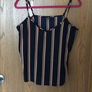 Navy Tank with Stripes